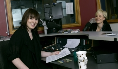 image for Two people in a radio studio