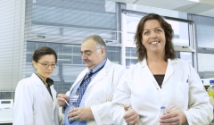 image for 3 lab technicans standing in a laboratory