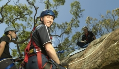 image for Man abseiling down mountain